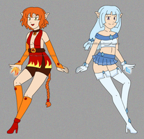 [CLOSED] Adoptables: FireElf and IceElf by izka-197
