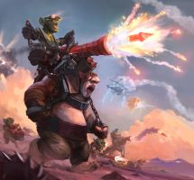 Hobgoblin Cannoneer! (full bg version) GvG  ftw! by JordyLakiere
