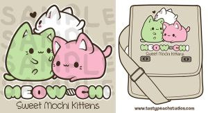 TPS: Meowchi Messenger Bag by MoogleGurl