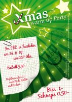 Christmas Warmup Party Flyer by kaese-rockt