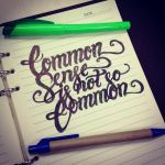 Common sense is not so common. by c0nr4d