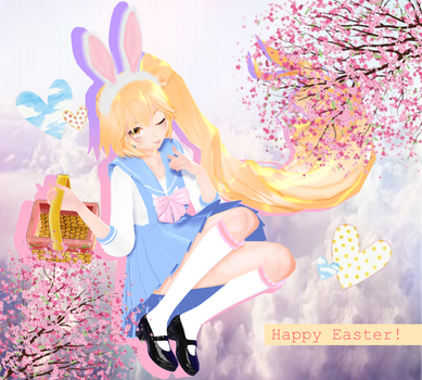 MMD Easter gift Neru-chan ayy by ReggieAndCheese