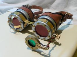 Steampunk Goggles by Challenger70TA