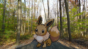 Pokemon #24 - Eevee (background) by MagicPearls