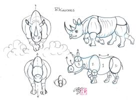 Draw Rhinos by Diana-Huang