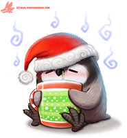 Daily Paint #1126. Holiday Fluuuuuuuuuu by Cryptid-Creations