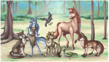 Kardia's family picture by veika