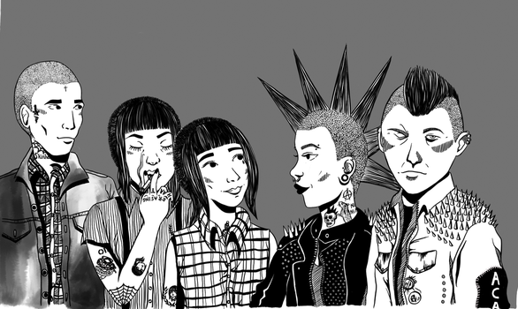 Skins and Punks by Nana1293