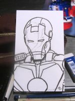 Iron Man Sketch by BungZ