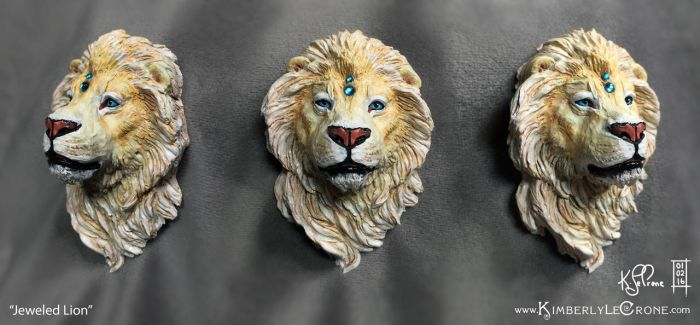Jeweled Lion Sculpture by Dreamspirit
