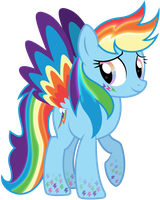 Rainbowfied Rainbow Dash Alt. Design by illumnious