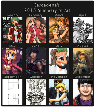 Cascadena's 2015 Summary of Art by Cascadena