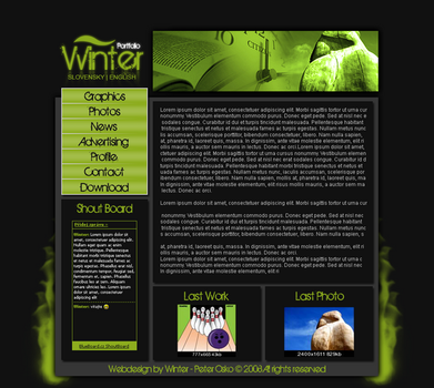 Webdesign1 by Winter by winter99