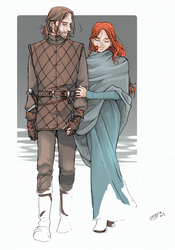 young ned and cat by nami64