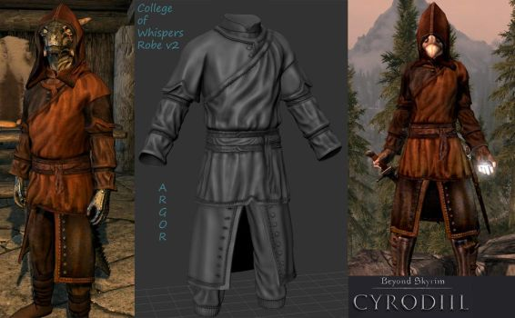Skyrim 2.0 NEW College of Whispers Robes for BS by Argornash35