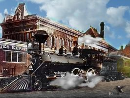 Union Depot circa 1880 Kansas City West Bottoms by PhotosbyRaVen
