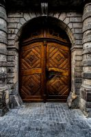 Wooden door by CyclicalCore