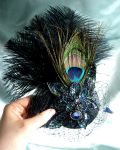Black Butterflies fascinator by fairyfrog