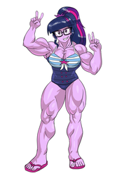 Muscular Twilight Sparkle by NeroScottKennedy
