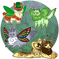 St. Patrick's Day Mothcats Auction [1/4 OPEN] by floramisa