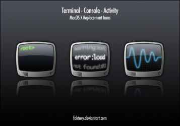 Terminal, Console and Activity by faktory