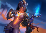 Symmetra (Overwatch) Halloween Skin by chirun