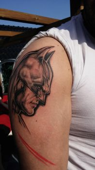 Batman Tattoo so far.... by Natissimo