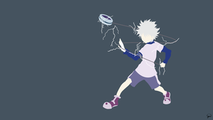 Killua Zoldyck (Hunter x Hunter) Minimalism by greenmapple17