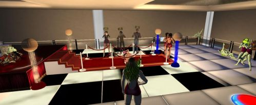 Mezz of the WestGallery in Second Life is all set by westcat