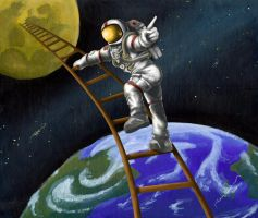 First Man on the Moon by tadamson