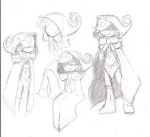 Little RED slicing hood sketches by heavy147