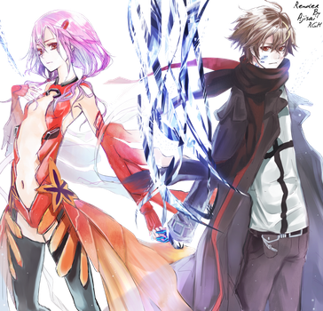 Render Guilty Crown by XxAjisai-GraphicxX