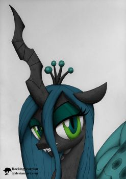 Queen Chrysalis Portrait - Digicolored by RockingScorpion