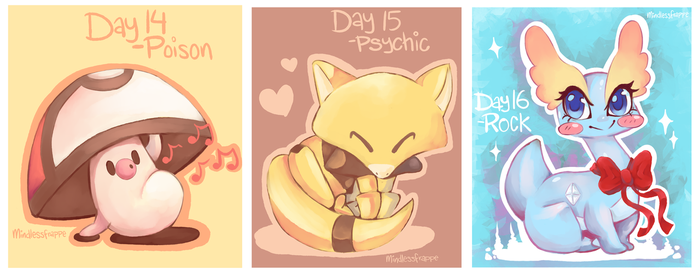 Pokemon - Day 14 - 16 by MindlessFrappe