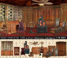 Things found in the study by jinifur