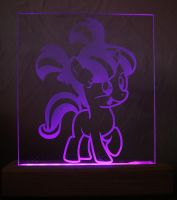 Filly Starlight Glimmer Acrylic LED Picture by steeph-k