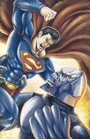 Superman vs Darkseid by jpzilla