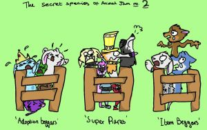 The secret species of Animal Jam PART 2! by WingedSheWolf