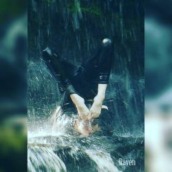 Close up contortion under the falls by GothicRavenMidnight