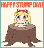 Star Butterfly likes Stump Day by Deaf-Machbot