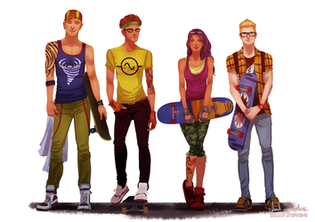 All grown up: Rocket Power! by IsaiahStephens