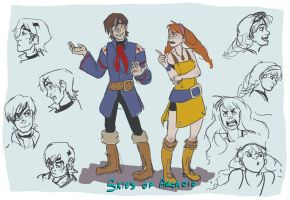 Vyse and Aika warm up by TheHauntedBoy