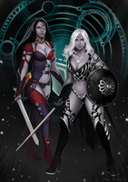 Commission: Ardulace and Melandra by Irina-Isupova