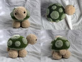 Amigurumi Sheldon Turtle by Thy-Darkest-Hour