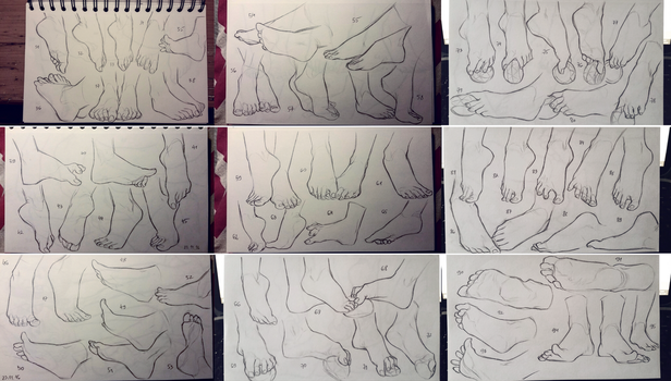 Feet study 2 by GoldenTar