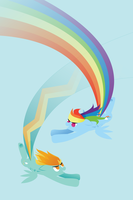 Lightning Dust and Rainbow Dash (Spoilers!) by robynneski
