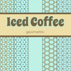 Free Iced Coffee: Geometric Patterned Papers by TeacherYanie