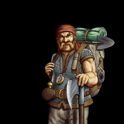 Wesnoth - Dwarf Explorer by thespaceinvader