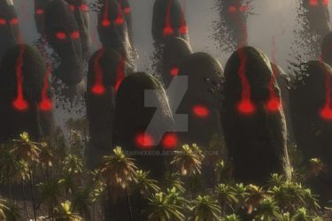 Easter Island nightmare by GraphixRob