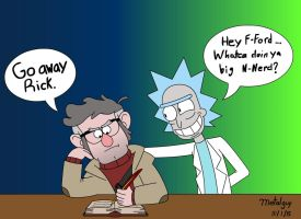 Rick and Ford - (Gravity Falls X Rick and Morty) by metalguy40